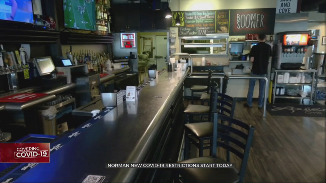 Norman Mayor To Place New COVID Restrictions On Bars, Restaurants & Gyms