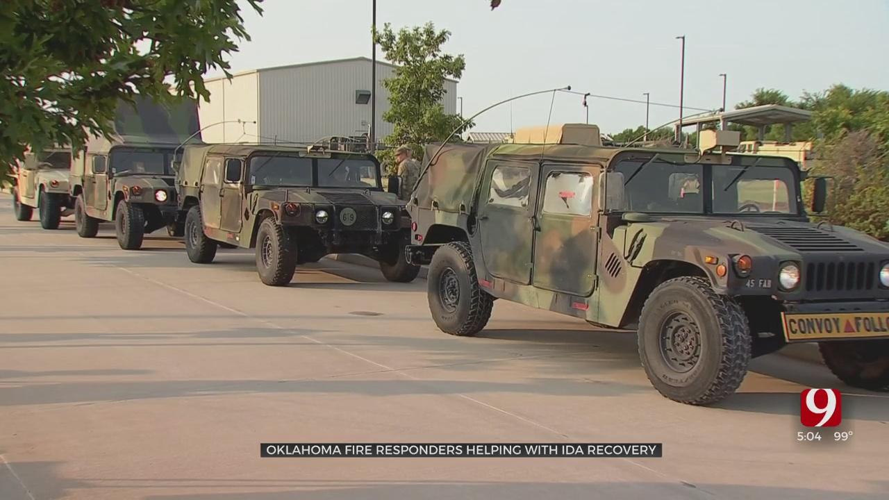 Oklahoma National Guard Members Volunteer To Help In Louisiana