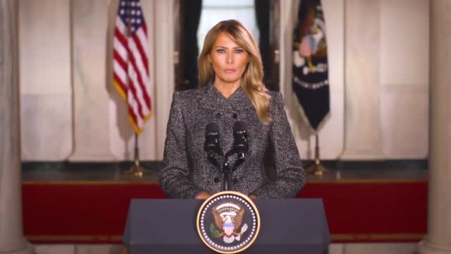 'Greatest Honor Of My Life': First Lady Melania Trump Gives Farewell Speech