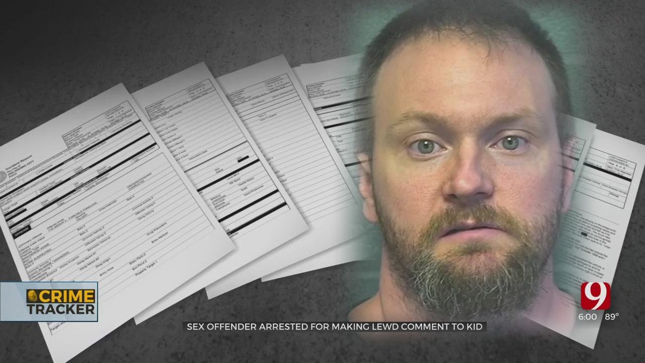 Registered Sex Offender Arrested In SE OKC After Alleged Lewd Comments To Child