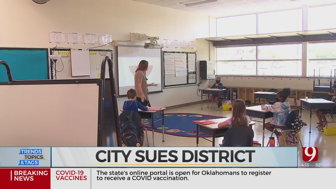 Trends, Topics & Tags: City Sues School District