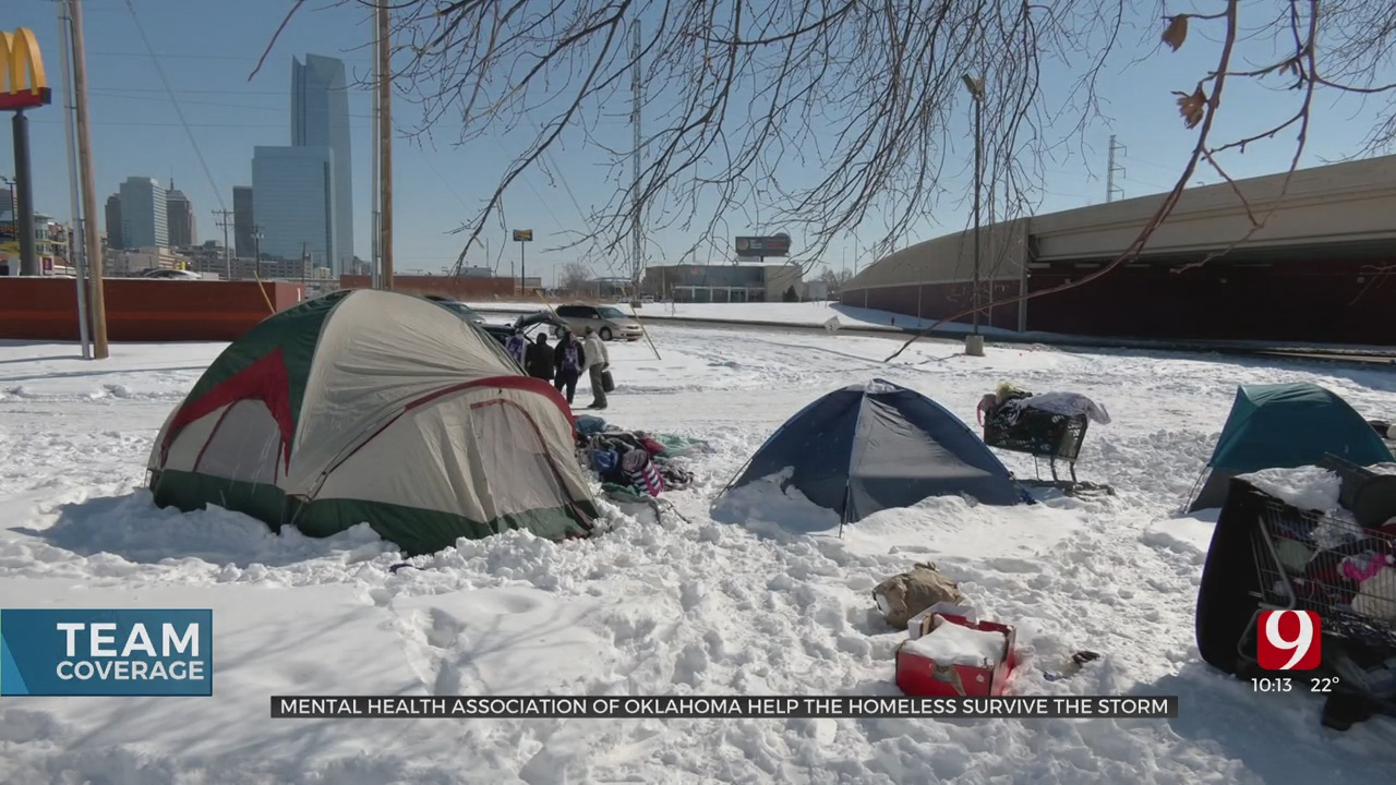 'They're Our Neighbors': Mental Health Advocates Help Oklahoma City's Homeless Find Shelter During Winter Storm
