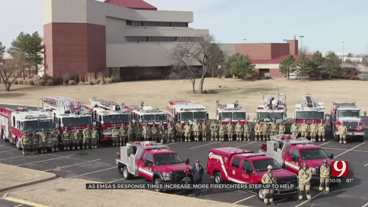 Oklahoma City Fire Department, EMSA Cooperation Expands As Response Time Climbs