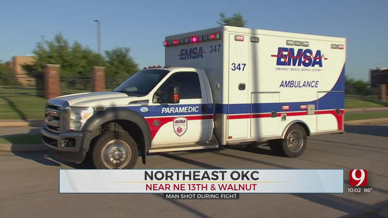 1 Person Shot, Rushed To Nearby Hospital In NE OKC