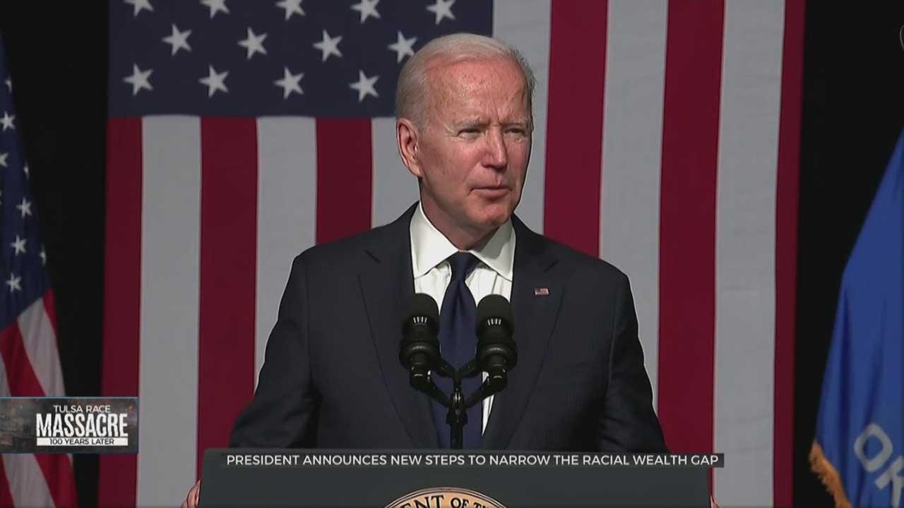 President Biden Announces Steps To Narrow The Racial Wealth Gap During His Tulsa Trip