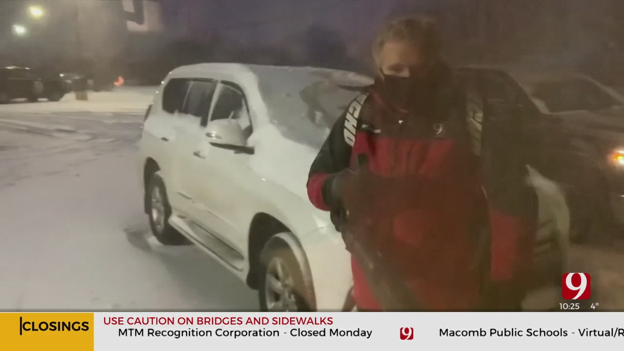 WATCH: News 9 Anchor Kelly Ogle Helps Out Chief Meteorologist David Payne