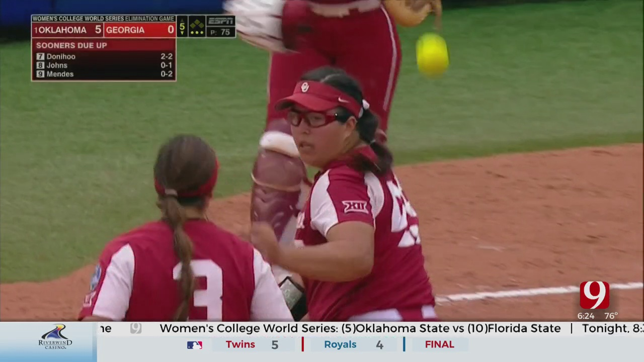 OU Rebounds, Shuts Out Georgia In Elimination Game