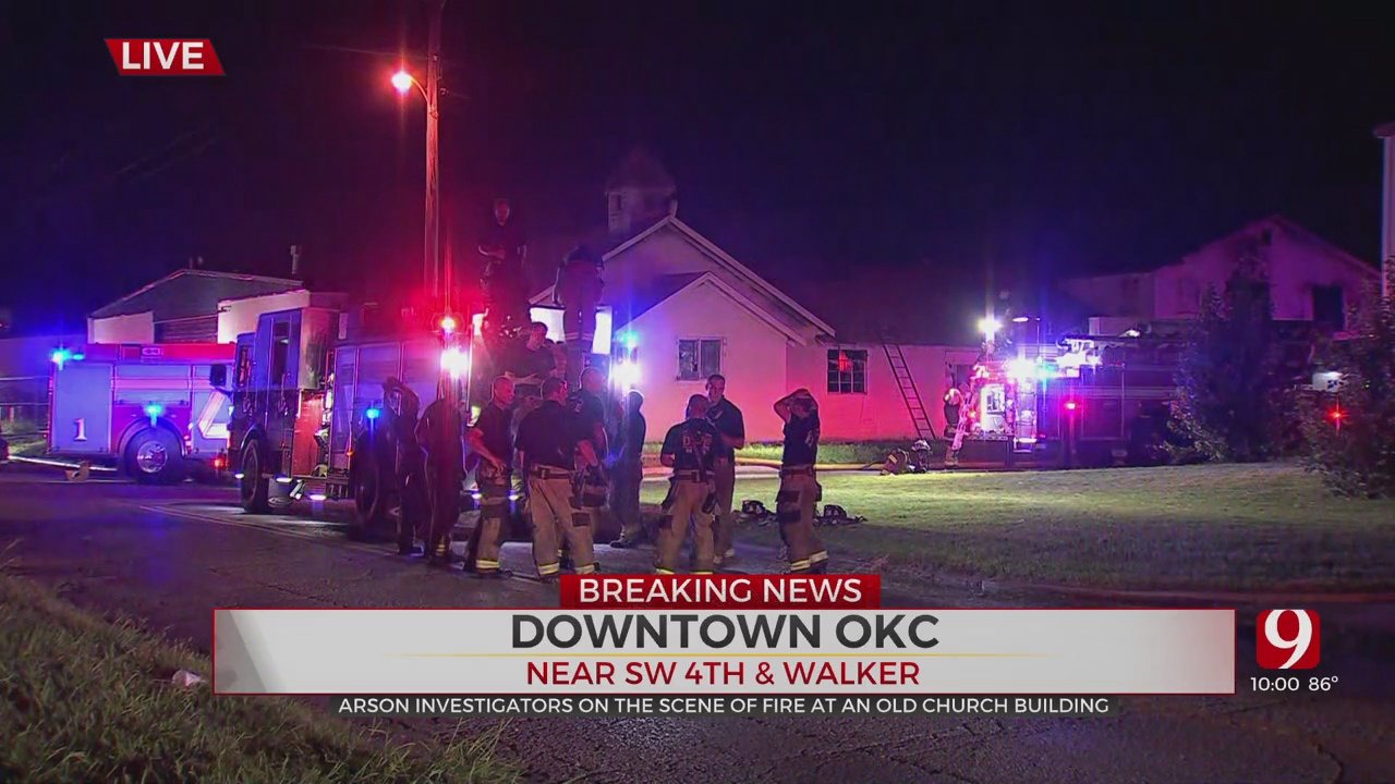 Firefighters Extinguish Fire In Downtown OKC