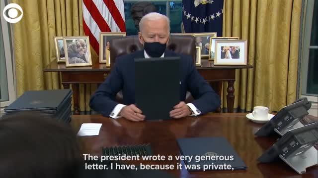 WATCH: President Biden On His Letter From President Trump