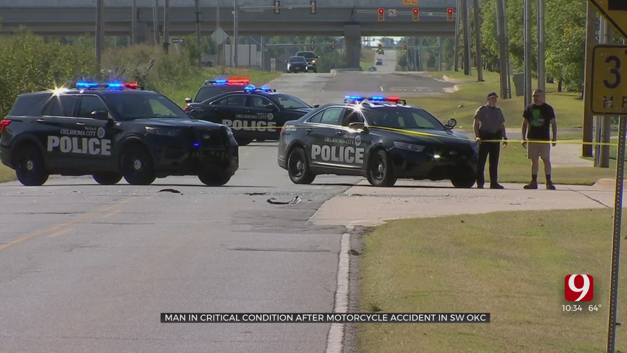 Motorcycle Crash With Car Leaves 1 Person Seriously Injured In SW OKC, Authorities Say