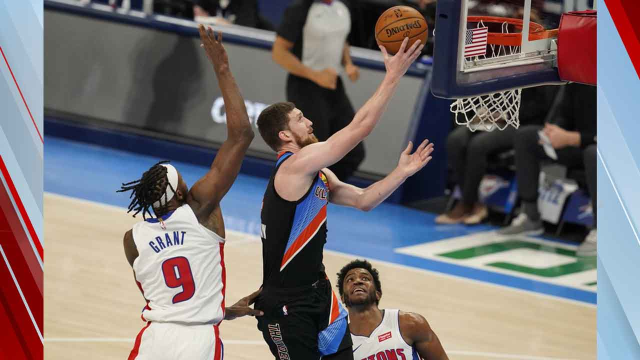Grant Scores 21 Vs. Former Team As Pistons Dominate Thunder