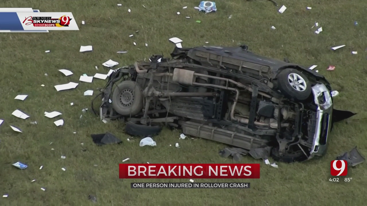 Victim's Condition Unknown After SW OKC Rollover Accident