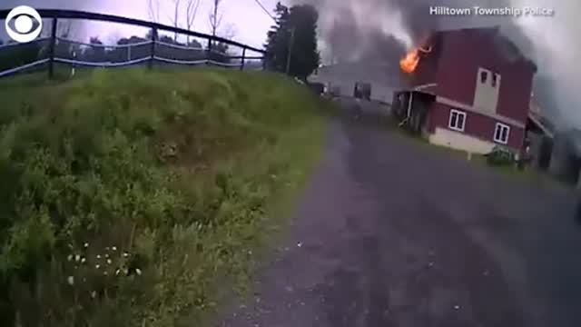 WATCH: Pennsylvania Police Officers Rescue Horse From Fiery Barn