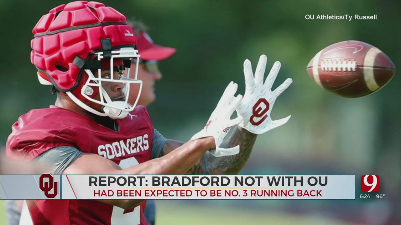 Report: Transfer RB Tre Bradford No Longer On OU Football Roster