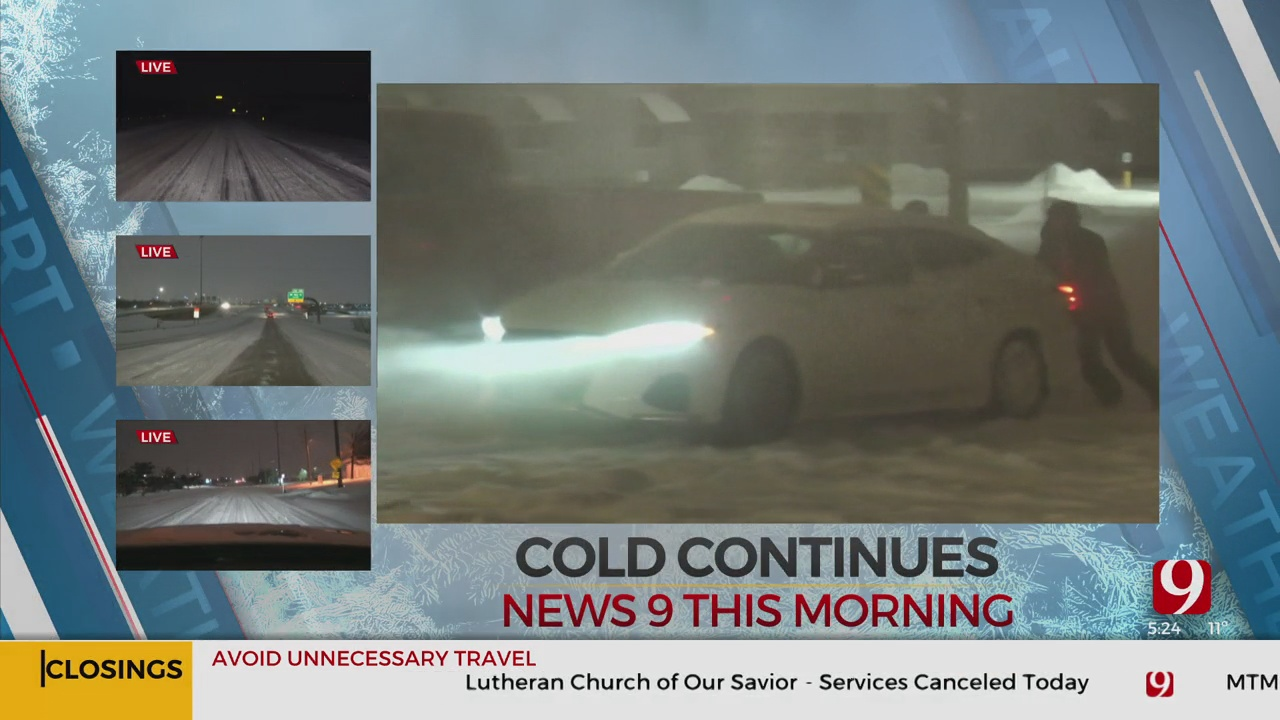 WATCH: News 9's Colby Thelen Helps Stranded Drivers In Snow