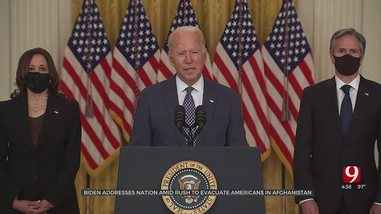 President Biden Pledges To Americans In Kabul: 'We Will Get You Home'