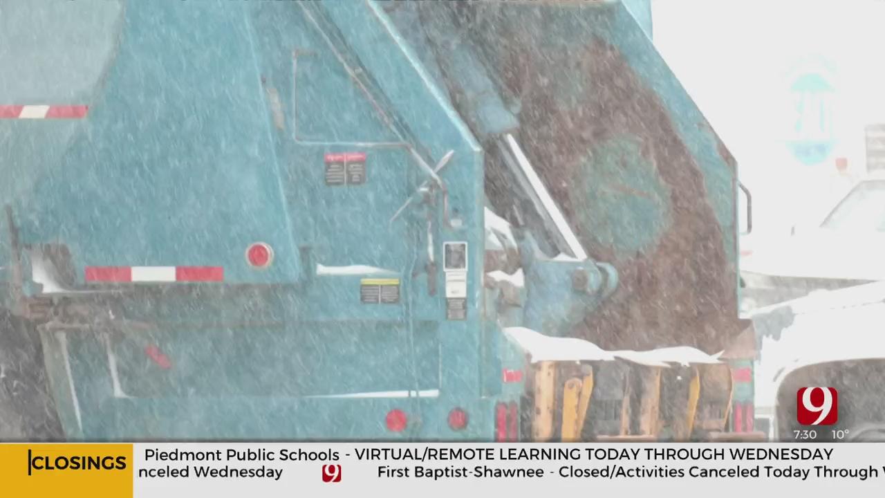 Utilities In Cities Across OKC Metro Delays Services Due To Winter Weather