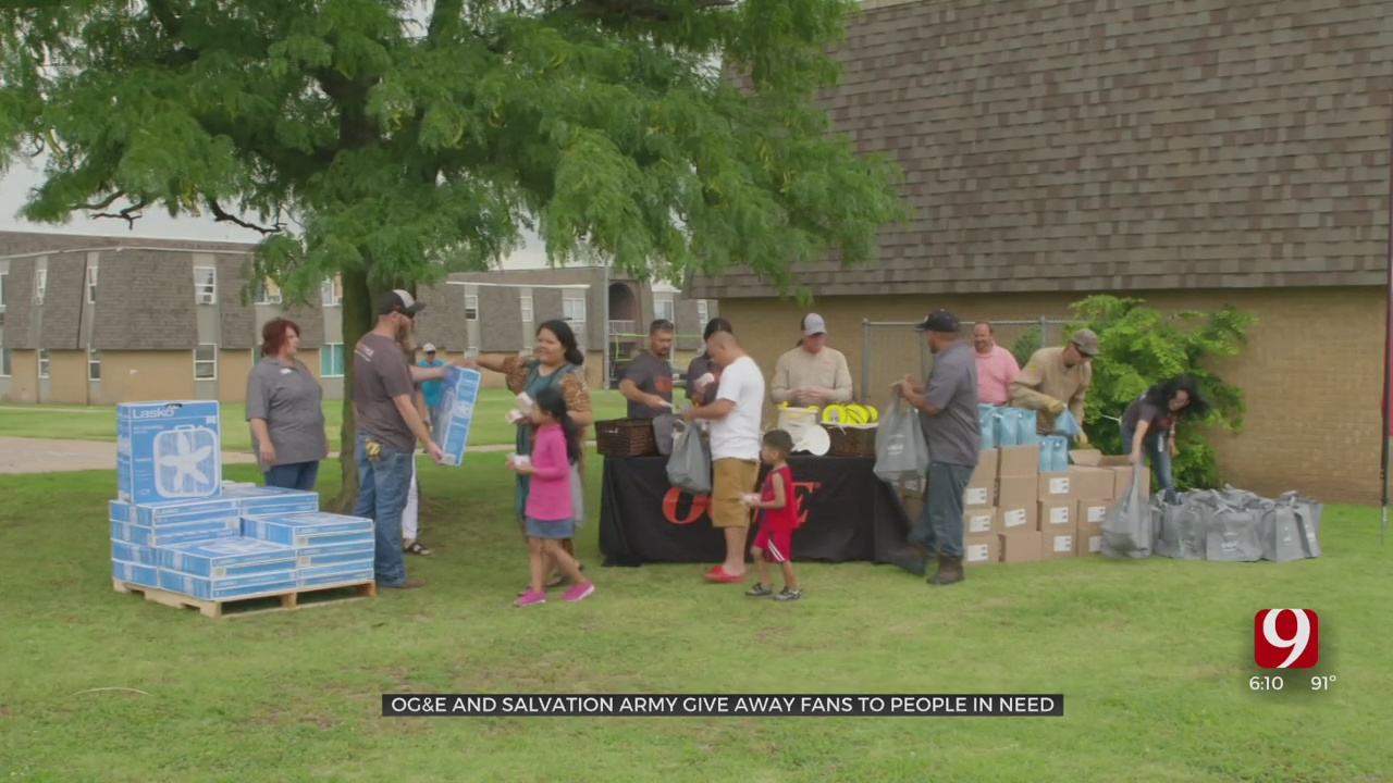 OG&E, Salvation Army Getting Electric Fans to Oklahoma Seniors & Low-Income Residents