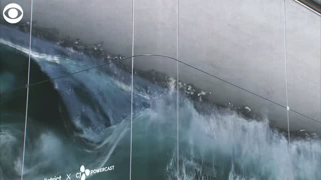 Large Art Installation Shows Realistic Crashing Waves