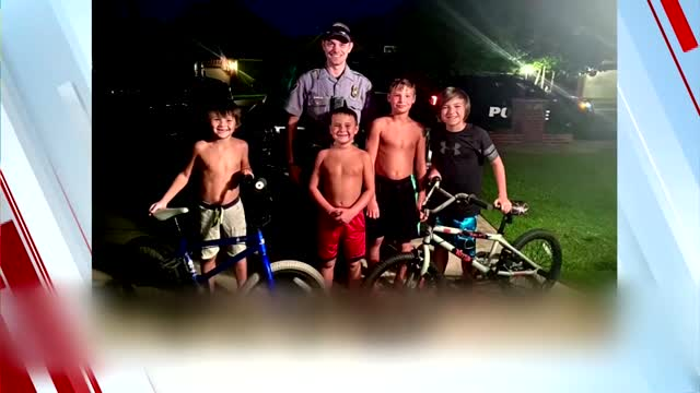 On A Good Note: Police Officer Locates Kids' Stolen Bicycles