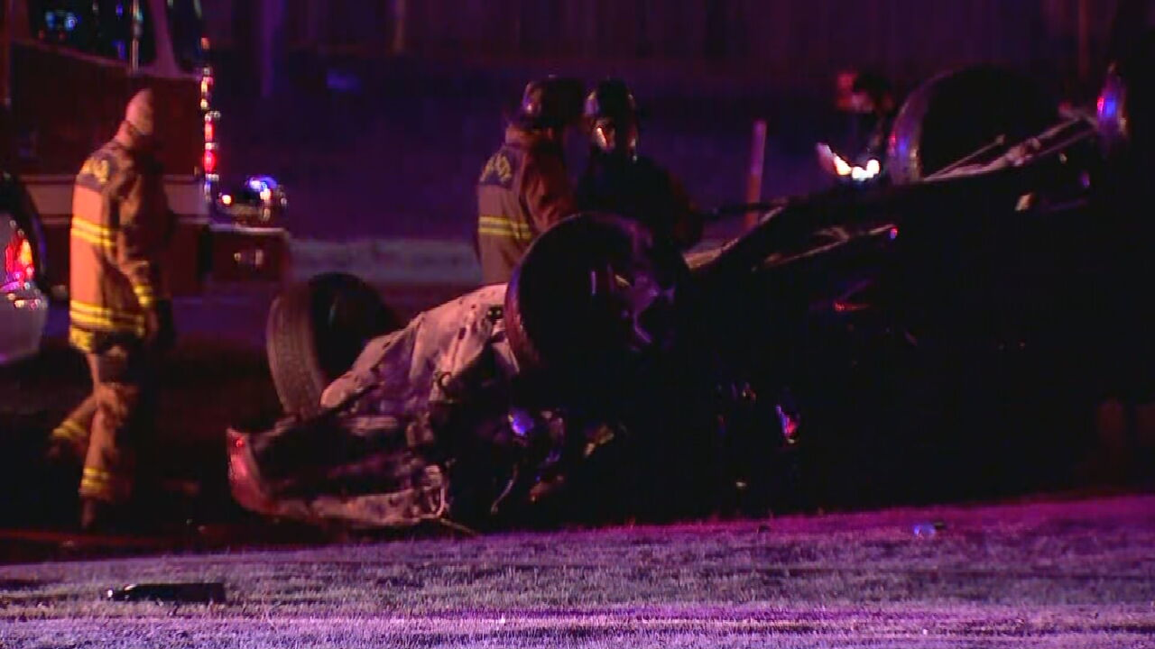 Suspect Arrested After Fiery Vehicle Accident In NW OKC