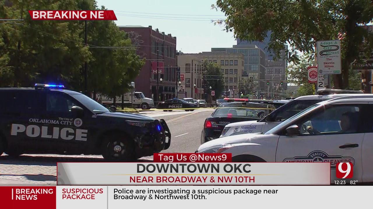 Police Investigate Suspicious Package In OKC's Automobile Alley