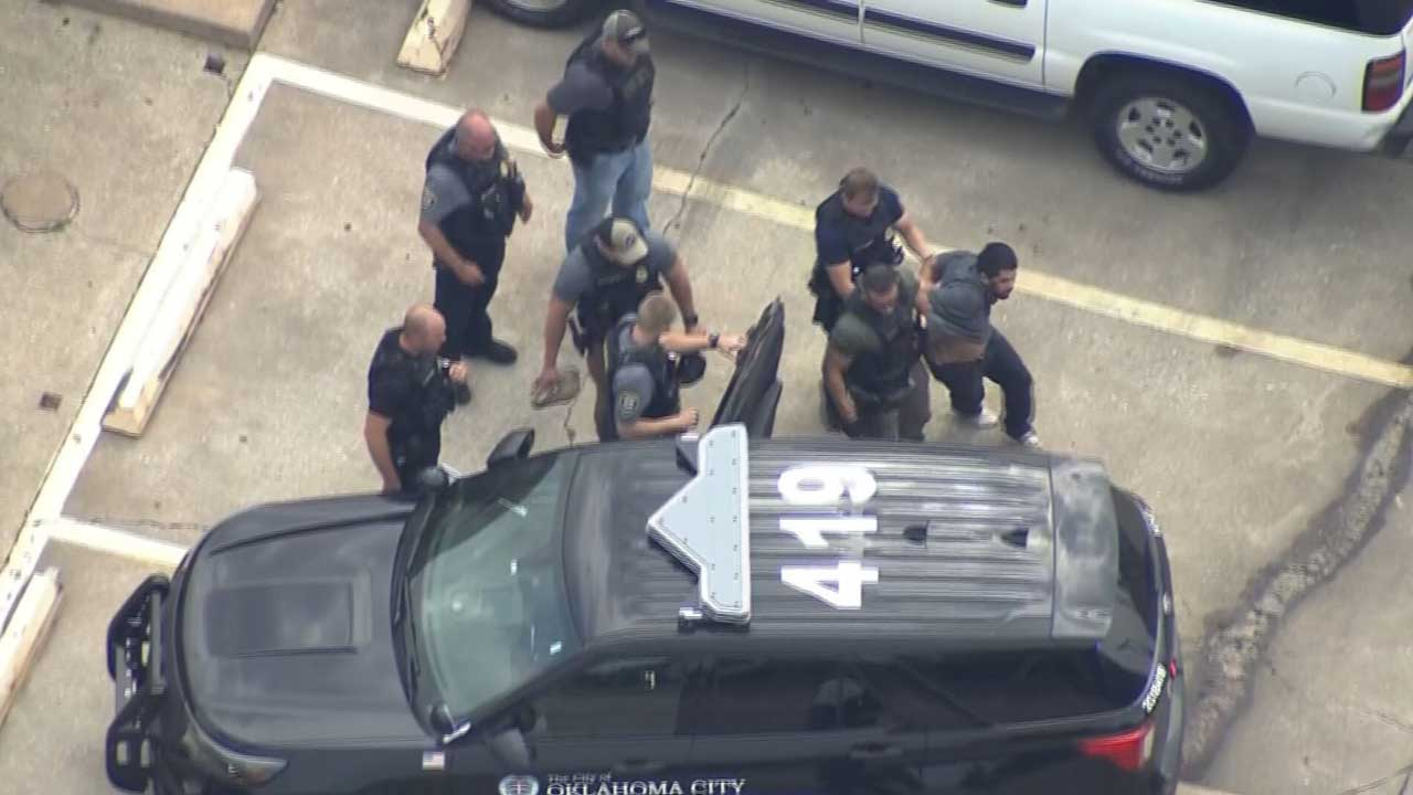Chase Suspect In Custody, Accused Of Hitting 2 Cars & Gas Line In SW OKC