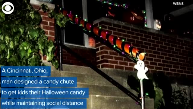 WATCH: A Man Builds Candy Chute To Maintain Social Distance