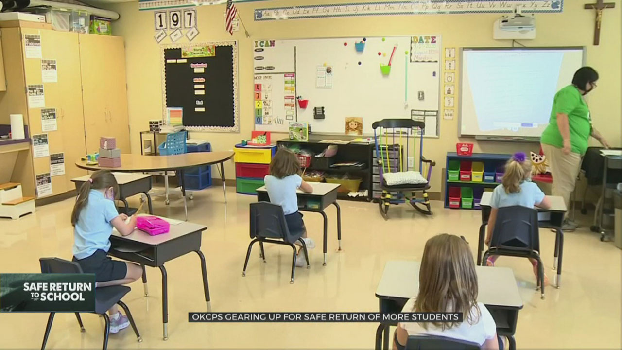 OKCPS Gearing Up For Safe Return To In-Person Class For More Students