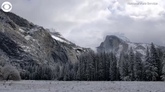 WATCH: Snow In Yosemite National Park