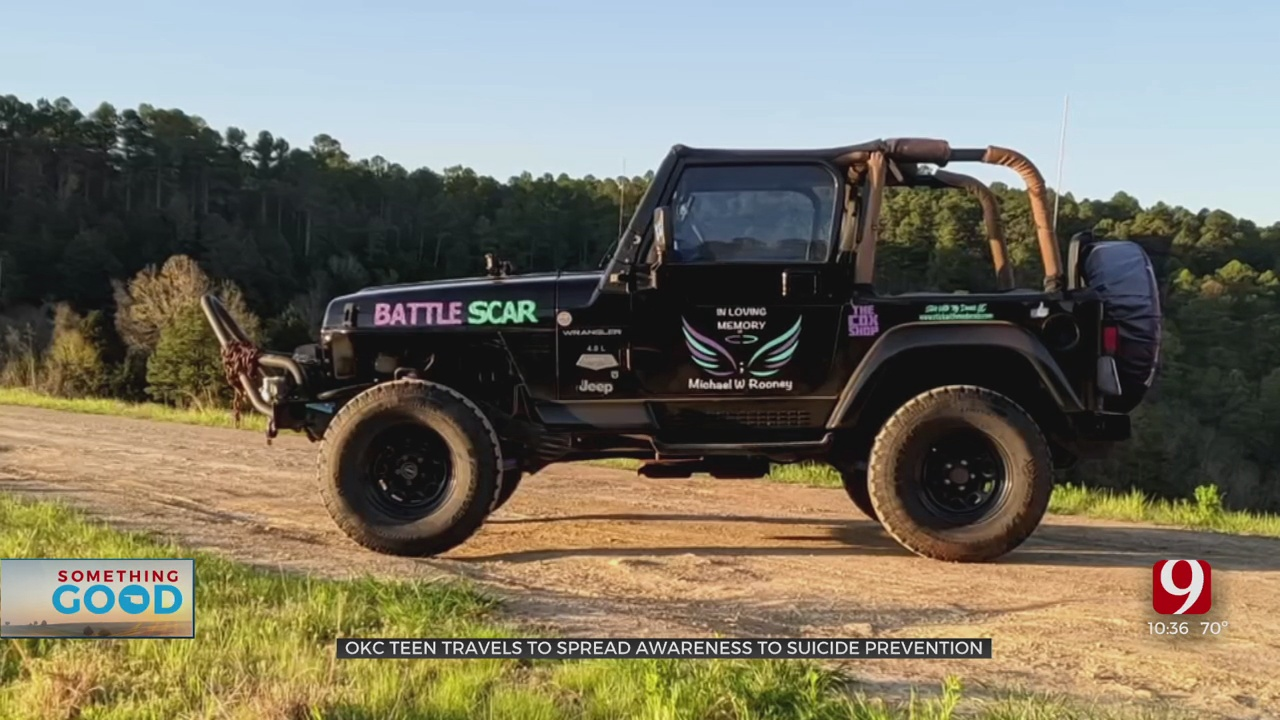 Teen Decorates Jeep To Honor Dad, Bring Awareness To Suicide Prevention