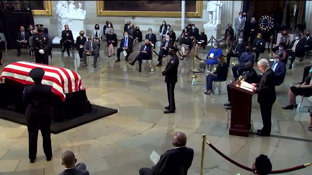 Late Congressman John Lewis Lies In State At US Capitol