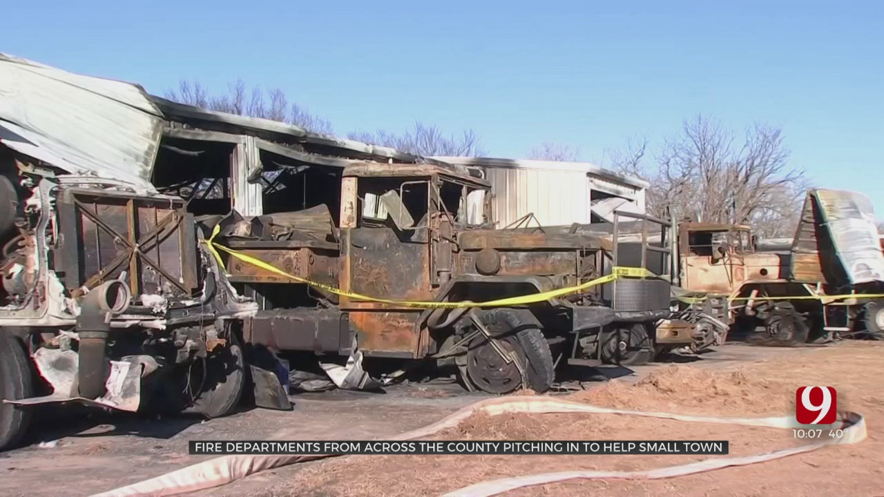 Firefighters Come Together To Help Twin Lakes VFD After Blaze Levels Building