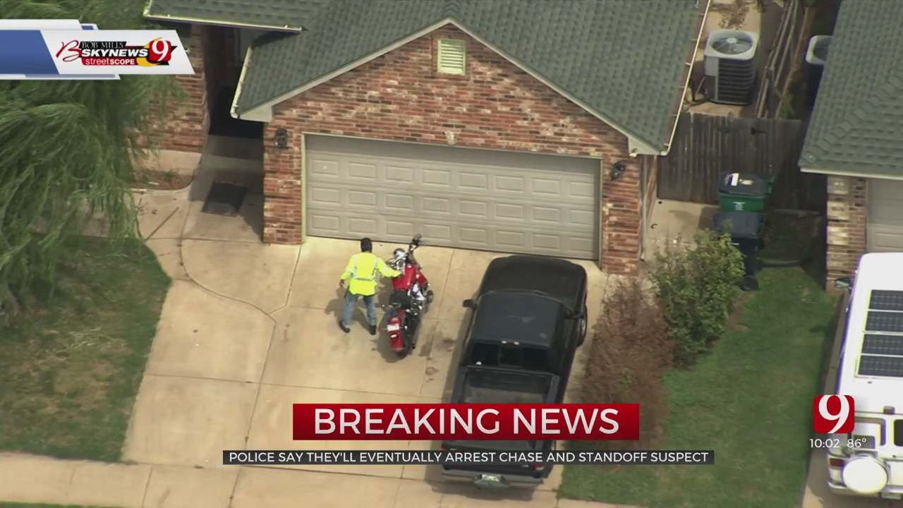 OKC Suspect Involved In Pursuit Drives Home, Barricades Himself Inside