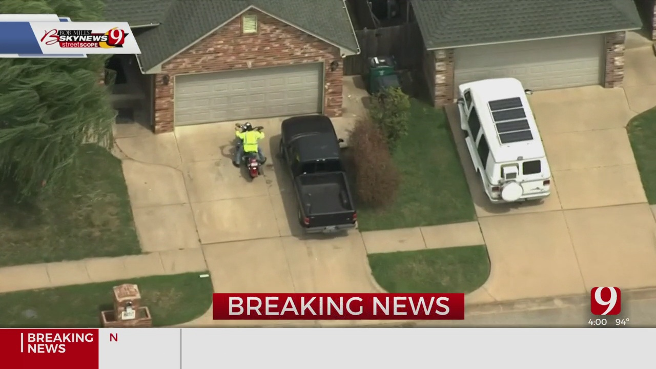 Authorities Involved In Standoff In OKC Following Chase Of Motorcyclist