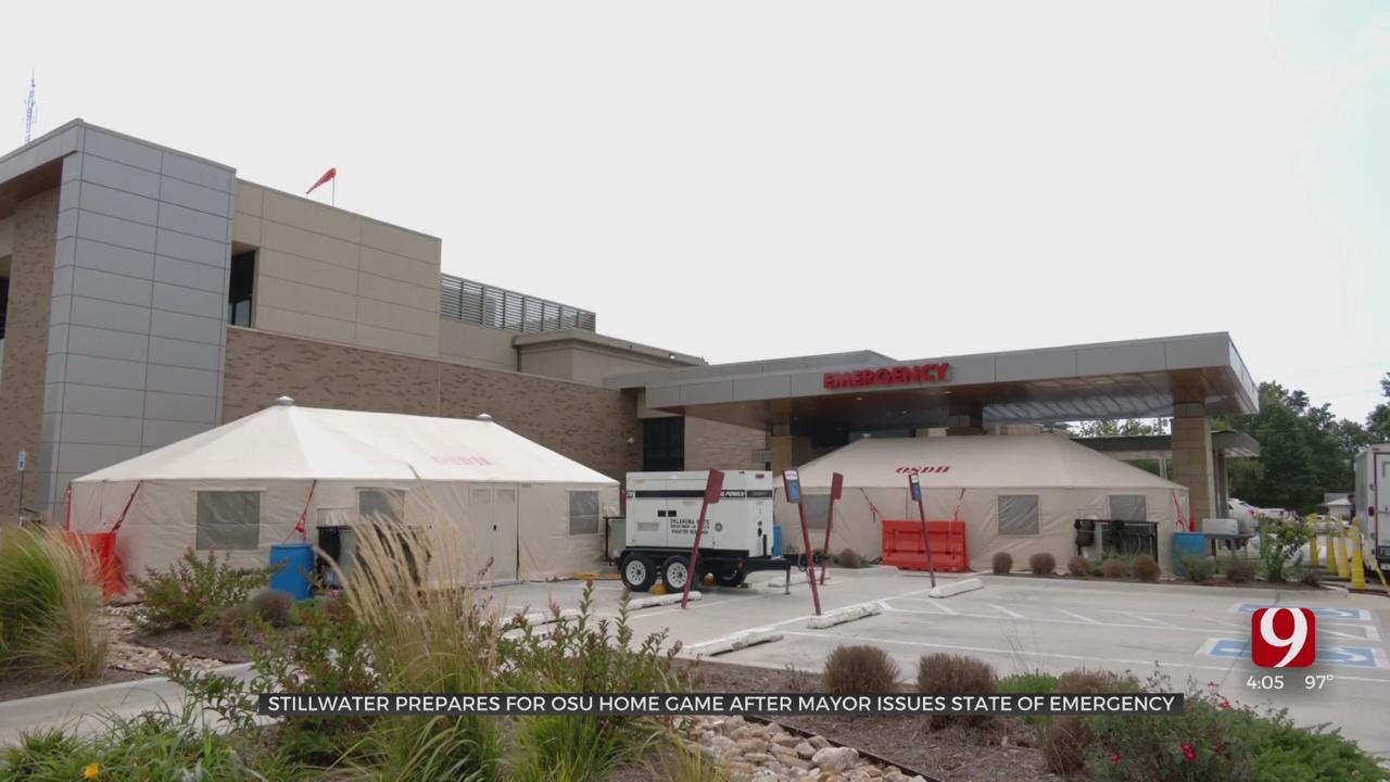 Medical Tents Go Up At Stillwater Medical Center After Mayor Declares State Of Emergency
