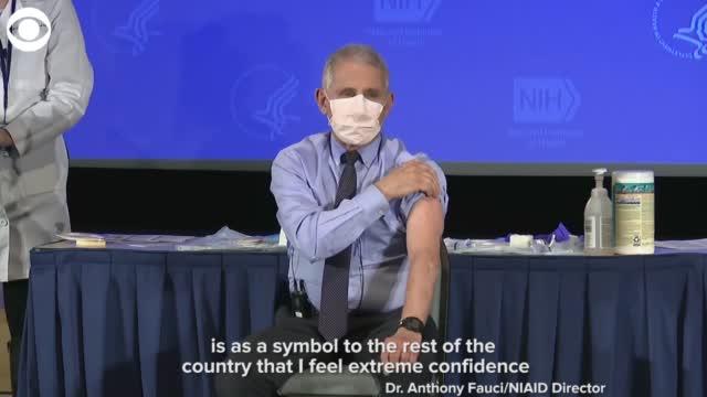 Dr. Anthony Fauci Gets The Coronavirus Vaccine