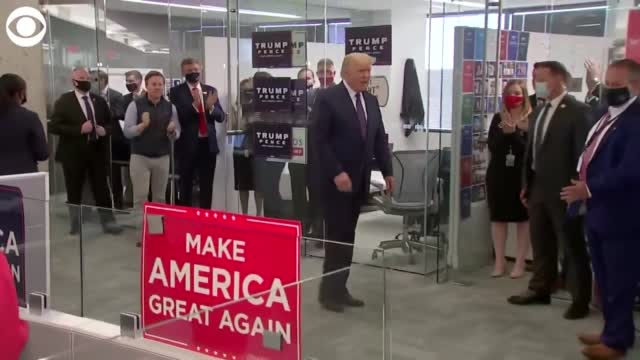 WATCH: President Trump Visits RNC Offices On Election Day