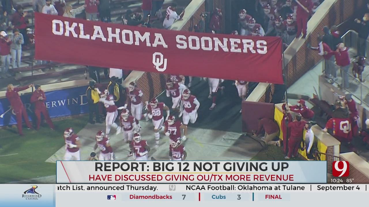 CBS Sports: Big 12 Discusses Scenario For OU, Texas To Receive More Of League's Revenue