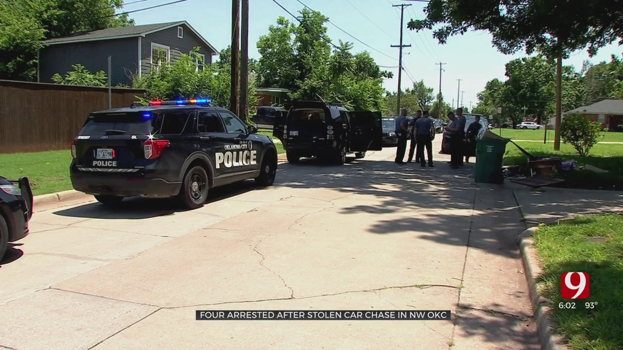4 Juveniles In Custody After Police Chase Through Oklahoma City
