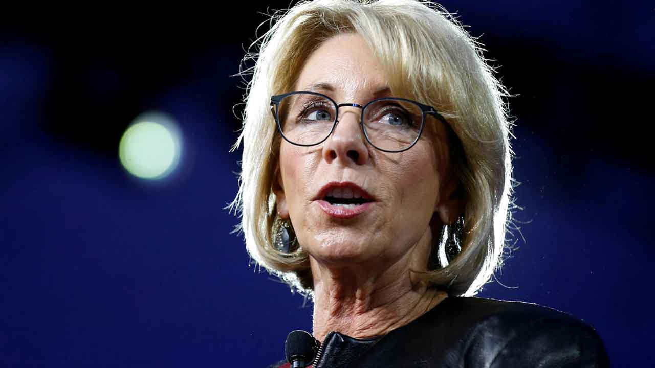 Education Secretary DeVos Resigns After Siege At US Capitol