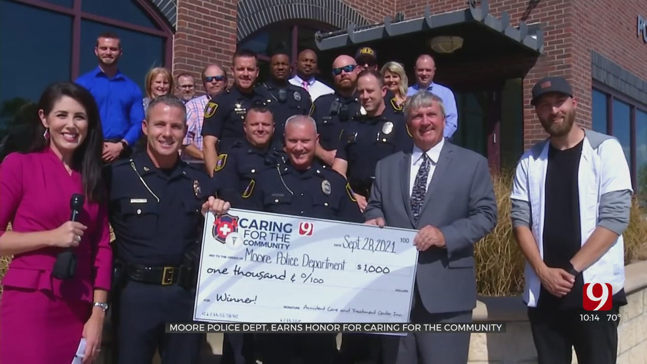 Caring For The Community: Moore PD Honored
