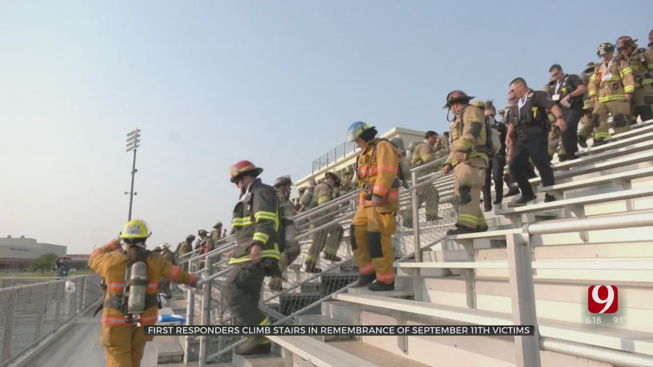 First Responders Climb Stairs In Remembrance Of September 11th Victims