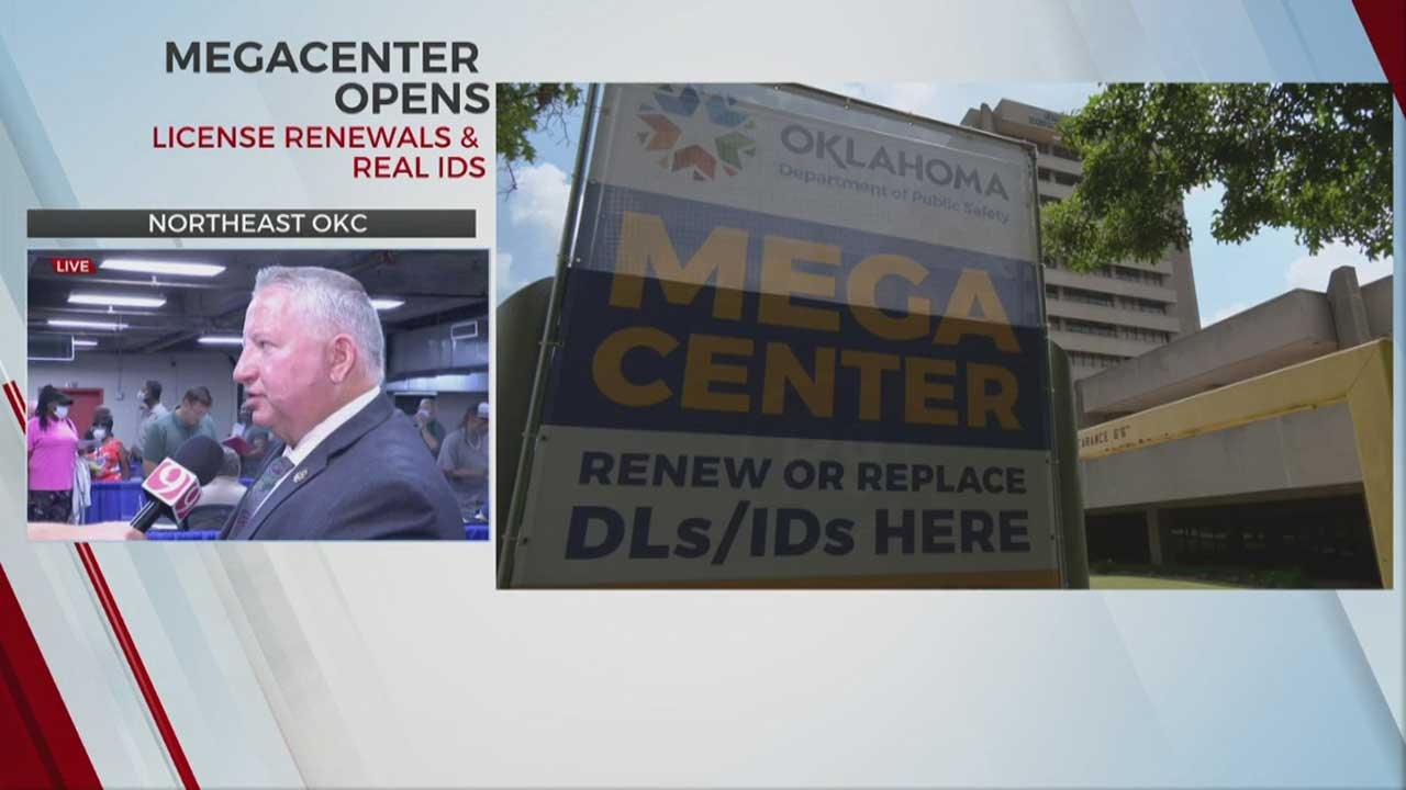 DPS Opens Up Megacenter In OKC To Help Oklahomans Renew Driver's Licenses, ID Cards