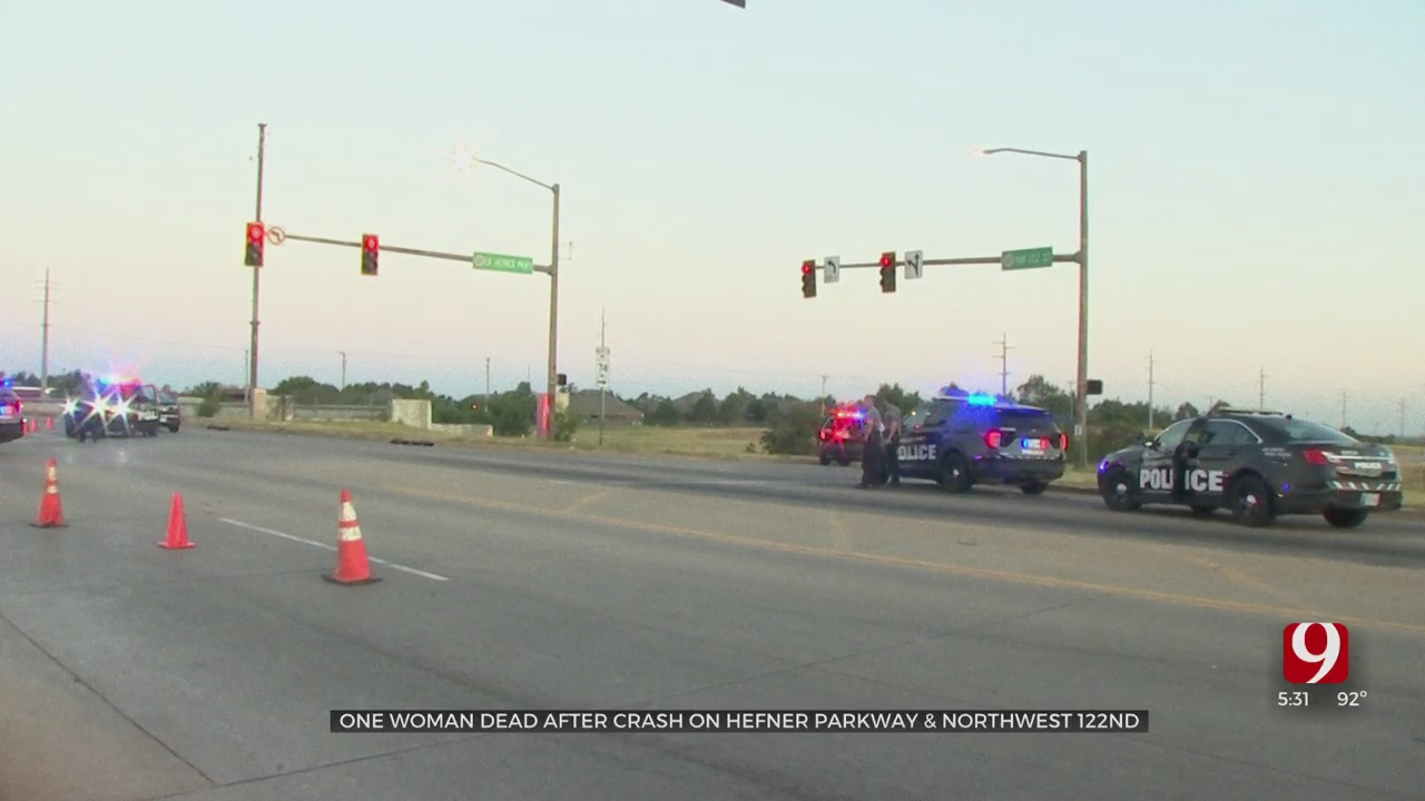 OCPD: 1 Woman Dead In NW OKC Single-Vehicle Accident