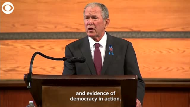 WATCH: President Bush Speaks At Rep. John Lewis' Funeral