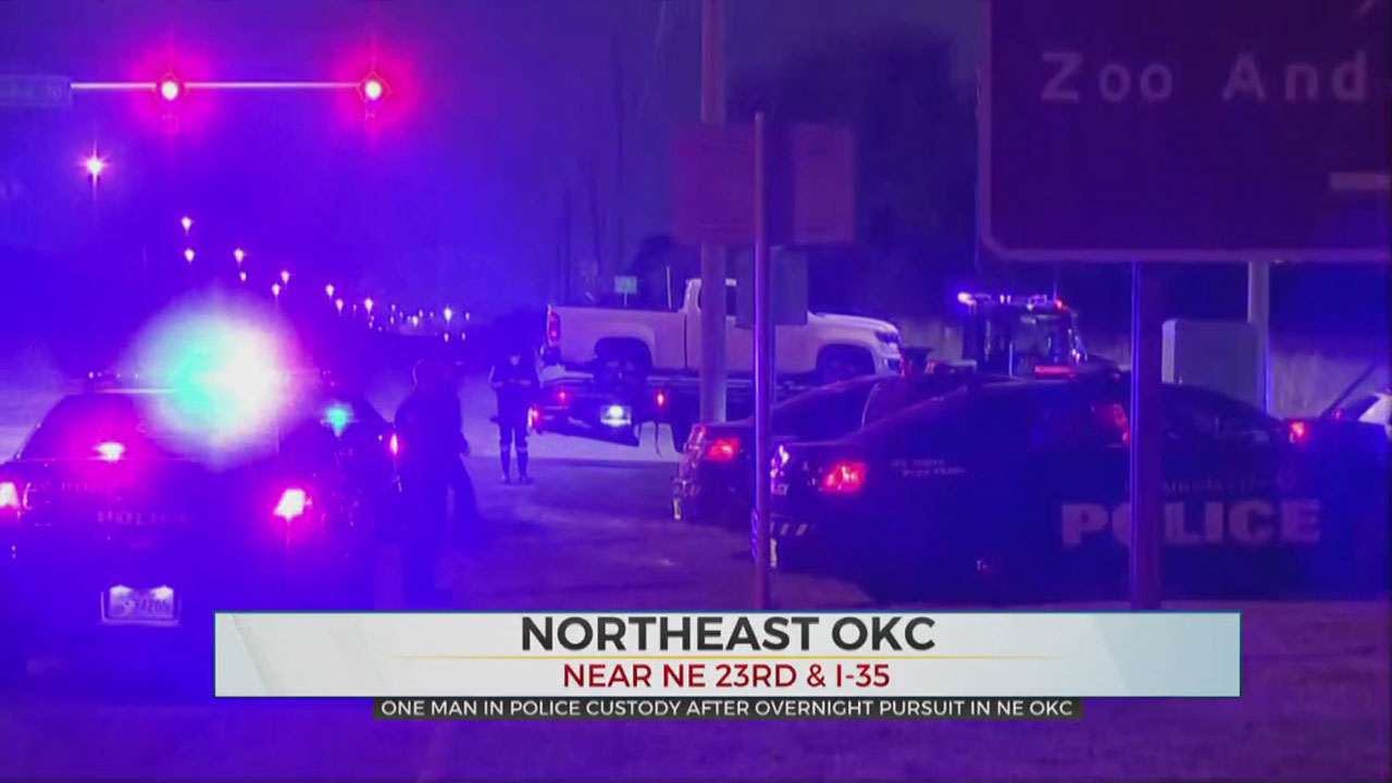15-Year-Old In Custody After Overnight Pursuit In NE OKC