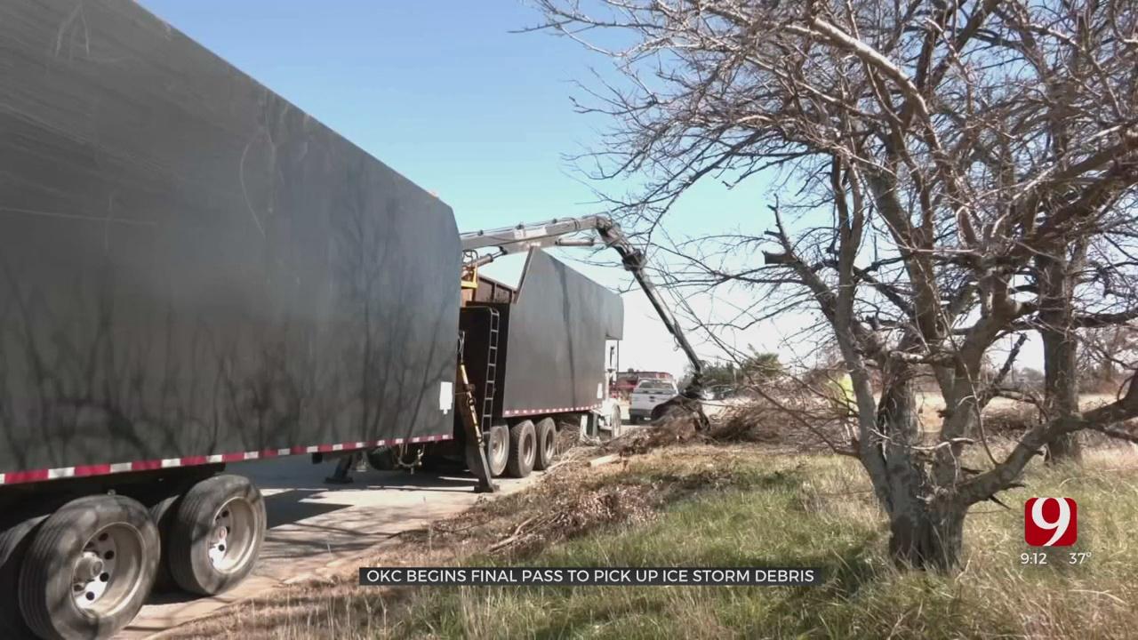 OKC Begins Second Pass Of Ice Storm Debris Pickup