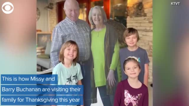 Grandparents Send Cardboard Cutouts In Their Place For Thanksgiving