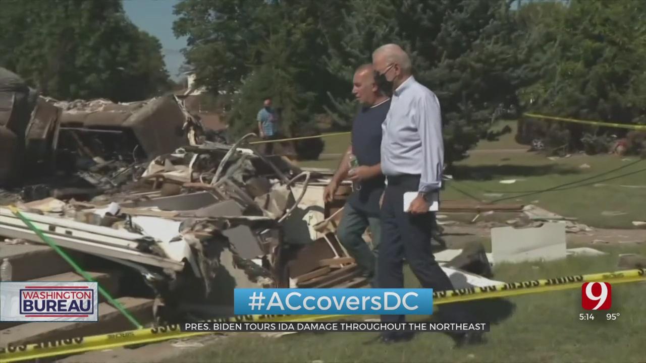 President Biden VisitS Communities In Northeast Hit Hard By Remnants Of Hurricane Ida